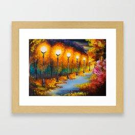 Lights will guide you home Framed Art Print