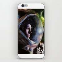 ripley iPhone & iPod Skins featuring alien ripley painting by John Mungiello