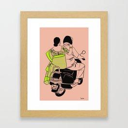 Delhi ride Framed Art Print