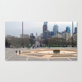 View From Art Museum, Philadelphia Canvas Print