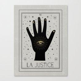 La Justice or the Justice Canvas Print