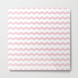 Pink Zig Zag Pattern Metal Print
