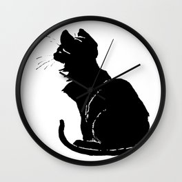 Life With Black Cats Vector Wall Clock