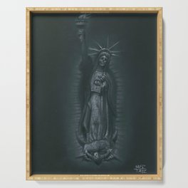 Virgen de Nueva York Serving Tray