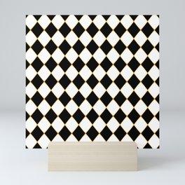 Chess board with golden threads Mini Art Print