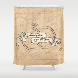 I Solemnly Swear to Love You Forever Shower Curtain