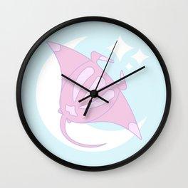 Lunar Manta Ray Wall Clock