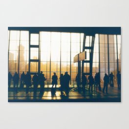 People Silhouettes Canvas Print