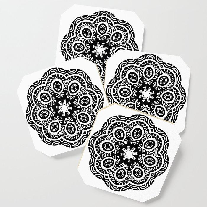 16ca1bd2b Polynesian style mandala tattoo 2 Coaster by annaki | Society6