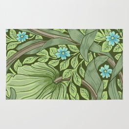 William Morris - Wallpaper Sample With Forget - Me - Nots Rug