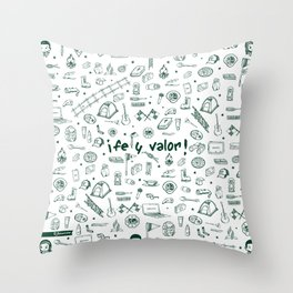 Camping Club Throw Pillow