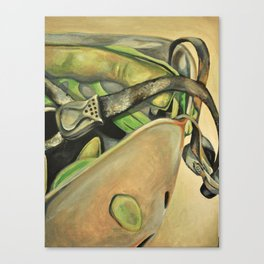 Rock Climbing Helmet Canvas Print