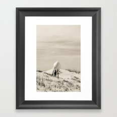 Wild Horses 7 - Black and White Framed Art Print