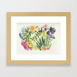 Florals and Corals Framed Art Print