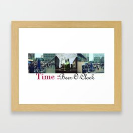 Beer-O-Clock : Art Print, Frames and Canvases Framed Art Print