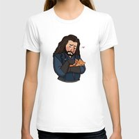 thorin T-shirts featuring Thorin and Kitten by Hattie Hedgehog
