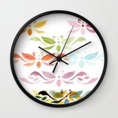 Butterfly arabesque Wall Clock