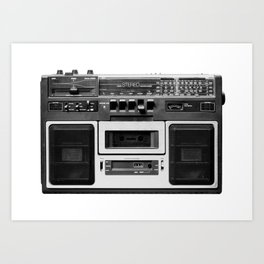 cassette recorder / audio player - 80s radio Art Print