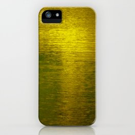 Gold Water I iPhone Case