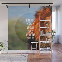 BOLD AS LIONS Wall Mural
