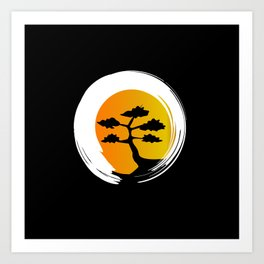 Zen Tree Art Print