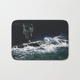 Dark Oceanic Cliff Bath Mat