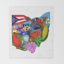 Ohio Throw Blanket