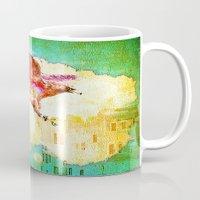 mythology Mugs featuring Gryphon mythology by Joe Ganech