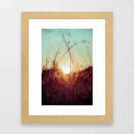 el sol nace Framed Art Print