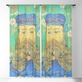 12,000pixel-500dpi - Vincent van Gogh - Portrait of Joseph Roulin - Digital Remastered Edition Sheer Curtain