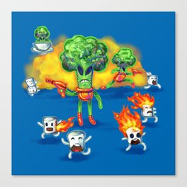 Veggie Attack Canvas Print