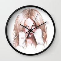 britney spears Wall Clocks featuring Britney Spears Shape Magazine by Eduardo Sanches Morelli