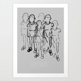 About twins Art Print