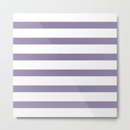 Purple Light Stripes on White Background Metal Print