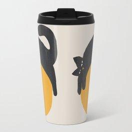 Cat with ball Travel Mug