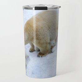 Polar bear mom with twins. Travel Mug