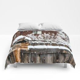 Snow House Comforters