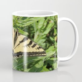 Swallowtail at Rest on Greenery Coffee Mug