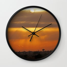 Vastnesses of Africa - Morning time Wall Clock