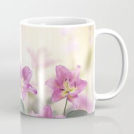 Pink Lily Flowers blooming in the garden Coffee Mug