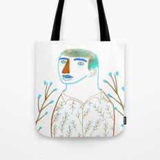 Man and plants. Tote Bag