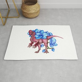 O is for Oviraptor and Orchid Rug