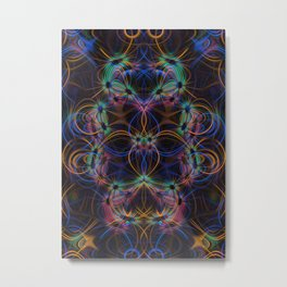 Colourful light trails pattern Metal Print