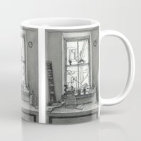 window Mugs featuring Window by v0ff
