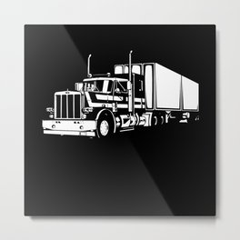 My Favorite Trucker Motif Metal Print