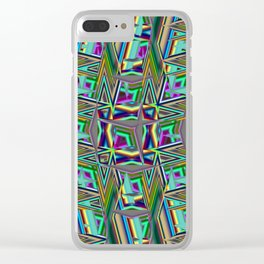 Abstract BB ZZ Clear iPhone Case