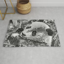 AnimalArtBW_Panda_20180102 Rug