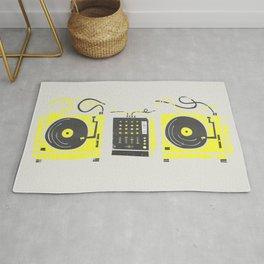 DJ Vinyl Decks And Mixer Rug