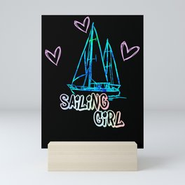 Sailing cool Gift for Sailor Mini Art Print
