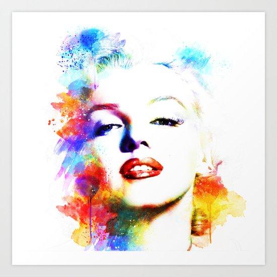 Marilyn Monroe Art Print By Michael Akers Society6